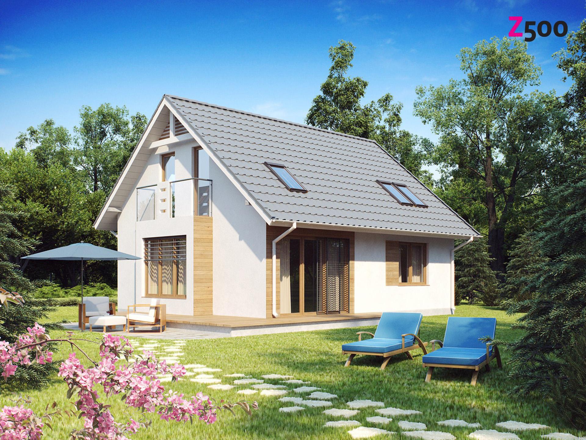 Проект небольшого функционального дома в классическом стиле .