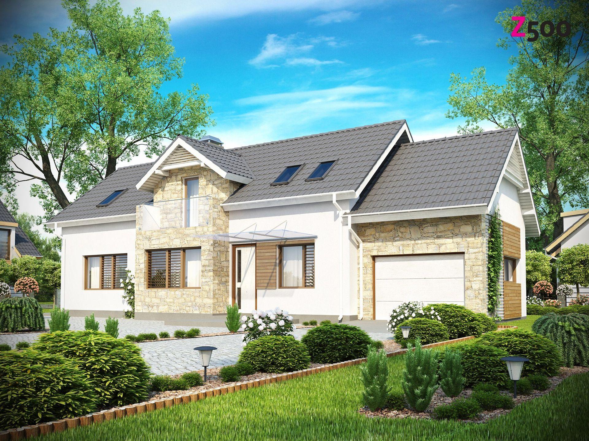 Проект сп 157 - функциональный дом с мансардой.