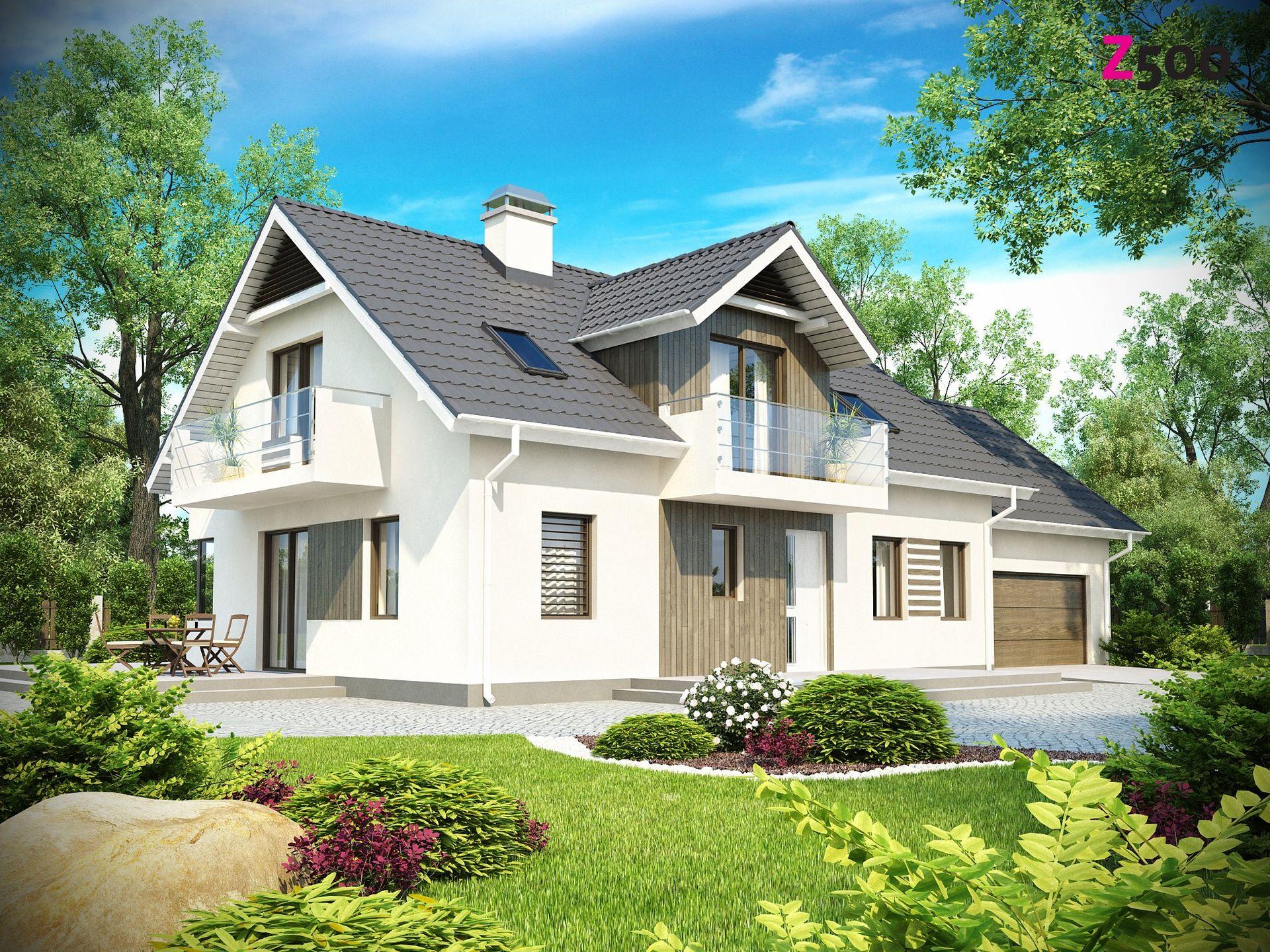 Фото красивых частных домов с гаражом 6
