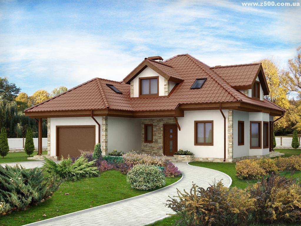 Фото домов и коттеджей с мансардой